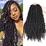 Silike 3 Packs 72 Roots 18inch Pre-twisted Passion Twist Crochet Braiding Hair-Pre-looped Passion Twist Hair for Black Women (1b)
