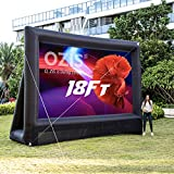 OZIS 18Ft Inflatable Outdoor Projector Movie Screen - Blow up Mega Movie Projector Screen with 350W Blower Include - Supports Front and Rear Projection - Easy to Set Up