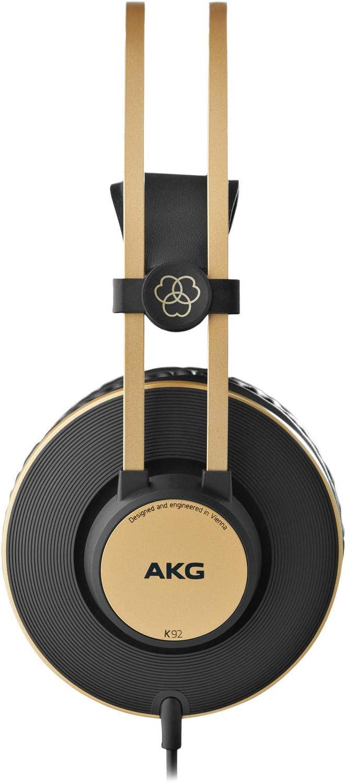 AKG K92 Closed Back - Auriculares de diadema cerrados (200 mW, 32 Ohmios, 113 dB, 3 m), color negro
