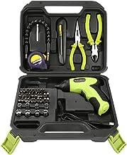 HISUNY - Snd116 3.6V Mini taladro manual multifuncional recargable para el hogar Paquete de empaque combinado de herramientas de 45 piezas