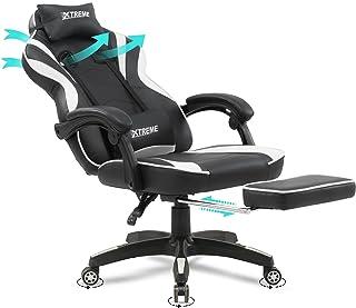 Olsen & Smith Xtreme Gamingstoel, bureaustoel, ergonomische bureaustoel, computerstoel, leunstoel, draaistoel met lendenst...