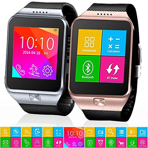 Indigi SWAP GSM Wireless + Bluetooth Smart Watch Phone Unlocked AT&T/T-mobile (Silver)