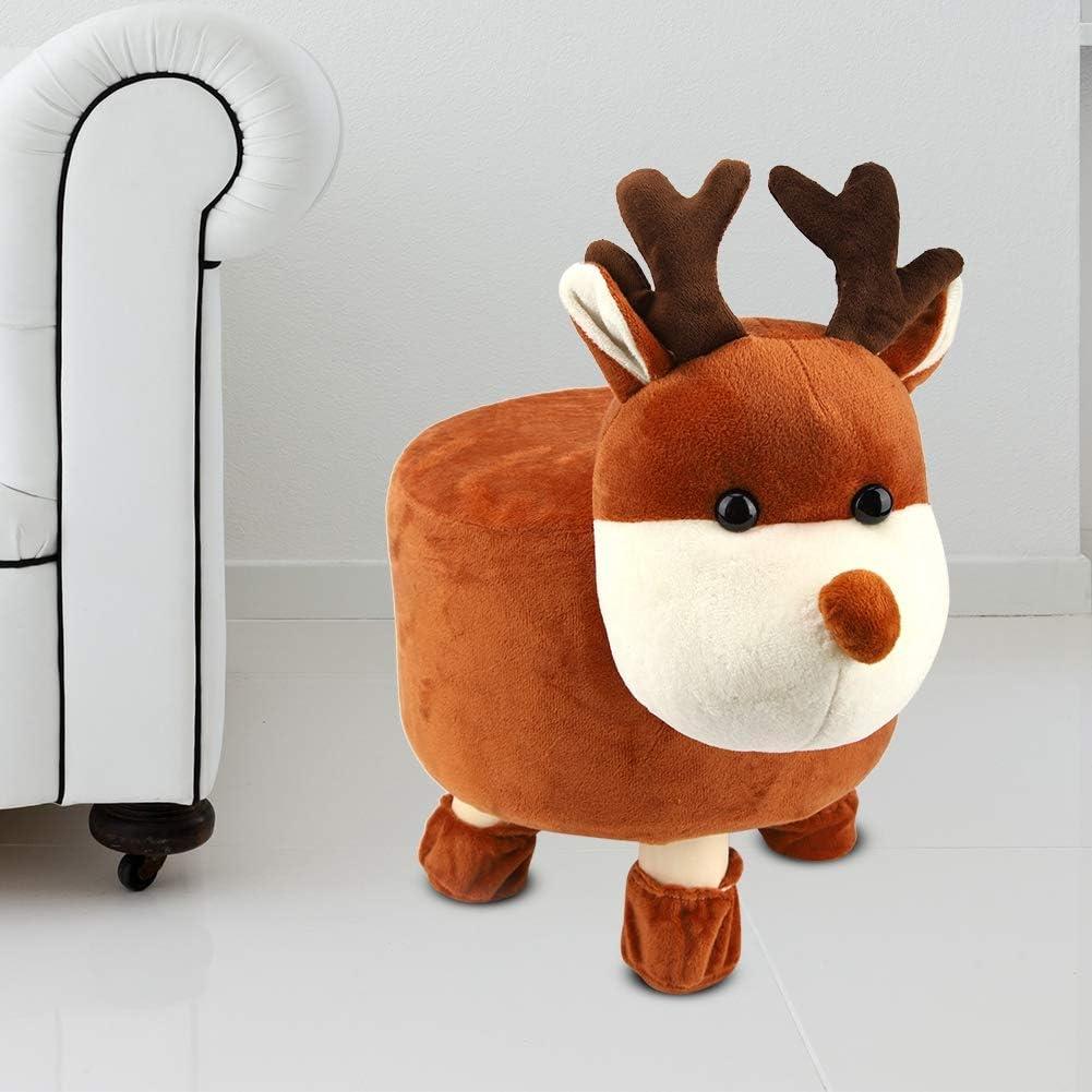PLLO Solid Wood Stool Deer Room Max 50% Philadelphia Mall OFF Living Mini