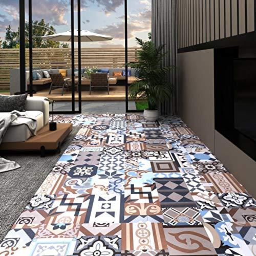 Tidyard PVC Laminat Dielen Vinyl Bodenbelag zum Küche, Bad, Flur und Wohnzimmer, 5,11 m², Mono-Muster