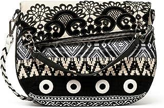 Desigual Bols_Black White FOLDED Sac à bandoulière pour femme Blanc