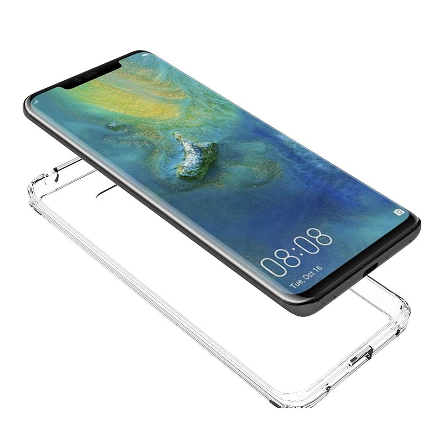 SHUDAGE for Huawei Mate 20 Pro Case, Clear Transparent Soft Silicone Ultra-Thin Bumper Back Case Full Protective Case Cover All-Around Protector Compatible Huawei Mate 20 Pro 6.39 inch (Transparent)