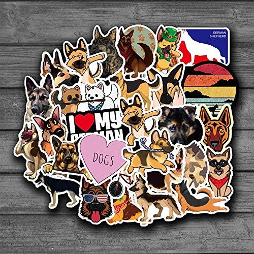 BAIMENG Pegatinas de Perro Pastor alemán para álbum de Recortes, portátil, Guitarra, monopatín, Maleta, calcomanía, Pegatina de Cachorro de Animal, 50 Uds.