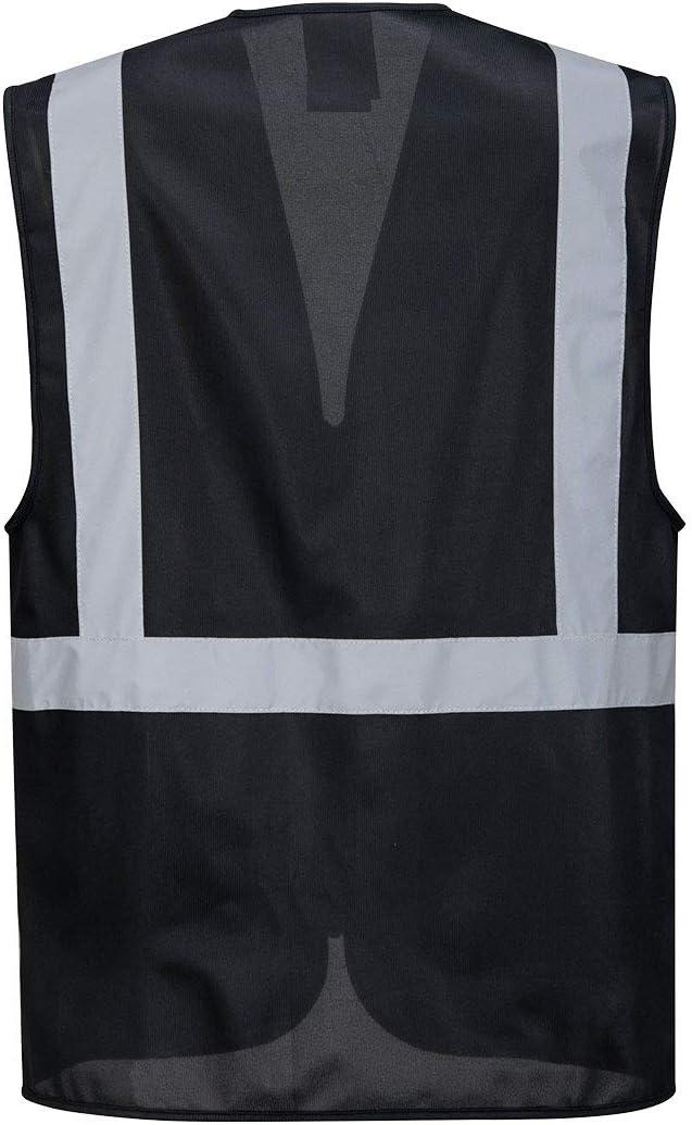Portwest Iona Executive Vest Hi Vis Visibility Reflective Night Work Security Wear Safety