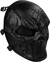 OutdoorMaster Full Face Airsoft Mask with Metal Mesh Eye Protection