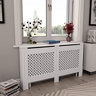 Canditree White Radiator Cover, Heating Cover Cabinet MDF for Home 60
