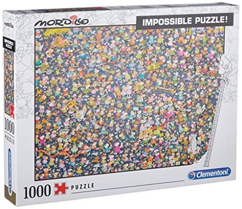 Clementoni - 39550 - Impossible Puzzle - Mordillo - 1000 Pezzi - Made In Italy - Puzzle Adulti