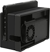 HDE Cooling Fan for Nintendo Switch Docking Station Fan Sleeve Accessory with Additional USB Port Removable USB Powered Cooler Stand