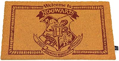 HARRY POTTER Doormat Welcome to Hogwarts Doormat Official Merchandising Reference DD Home Textiles Unisex Adult, Multicolor (Multicolor), Single