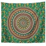 Mandala psicodélica Bohemia India Mandala Colgante de Pared Dormitorio Dormitorio Cabecero Tapiz Decoración para el hogar