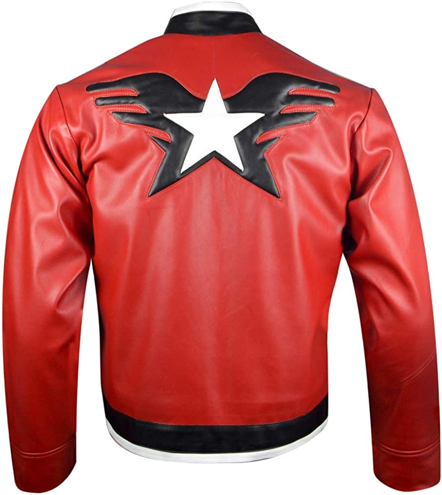 King Of Fighters 14 Rock Howard Leather Jacket Xxs 3xl At Amazon Men S Clothing Store Andy|andy bogard, geese howard, rock howard, mary|blue mary. rock howard leather jacket xxs 3xl