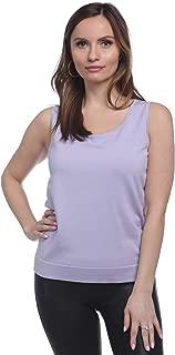 August Silk Women's Sleeveless Round Neck Jersey Shell Tank Top