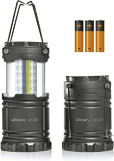 Portable Pop Up Indoor/Outdoor Camping Lantern + Waterproof Emergency Flashlight w/LED Lights (300 Lumens) for Backpacking...