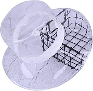 Fashion Sun Hats for Women Bucket Hat Transparent Visor Cap with Ribbon, for Beach Wedding Party