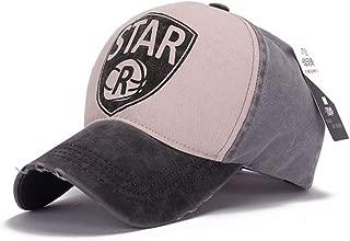 MEISUWANG Baseball Cap Baseball Cap Fitted Hat Casual Cotton Cap Star Gorras 5 Panel Hip Hop Snapback Hat Washed Summer Sun Cap for Men Women Unisex