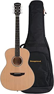 Orangewood Victoria Grand Concert Acoustic Guitar with Spruce Top, Ernie Ball Earthwood Strings, and Premium Padded Gig Bag Included