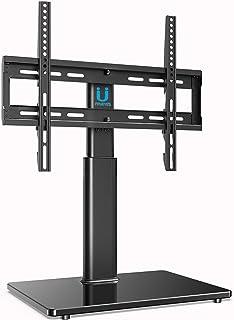 FITUEYES Soporte Giratorio de TV de 32 a 60 Pulgadas Altura Ajustable Soporte de Mesa para TV LCD LED OLED Plasma Plano Curvo TT104501GB-G