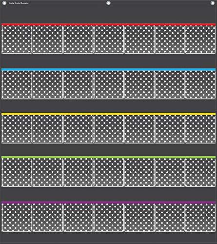 Teacher Created Resources Black Polka Dots Storage Pocket Chart (20750) Photo #5