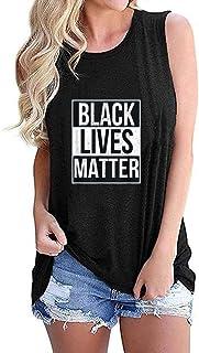 Black Lives Matter T-Shirt Tank Tops with Names of Victims - BLM Shirt Women Tops Vest