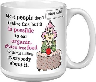 Tree-Free Greetings Extra Large 20-Ounce Ceramic Coffee Mug, Aunty Acid Organic and Gluten Free