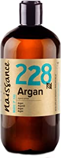 Naissance Moroccan Argan Oil 500ml - Pure and Natural, Cold-Pressed, Vegan, Hexane Free, No GMO - Natural Moisturiser and Conditioner for Face, Hair, Skin, Beard & Cuticles