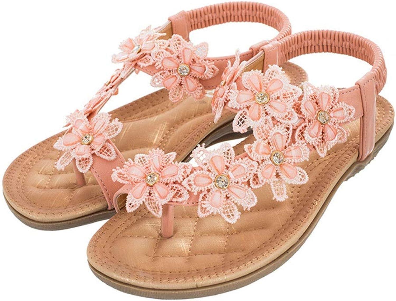 WENNEW Classical Camellia Sandals Joker Comfort Bland Women's shoes Beach Sandals