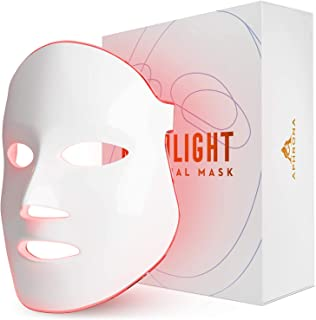 FDA cleared Aphrona LED therapy device Facial Skin Care Mask -Blue & Red Light Treatment Photon Mask (White)