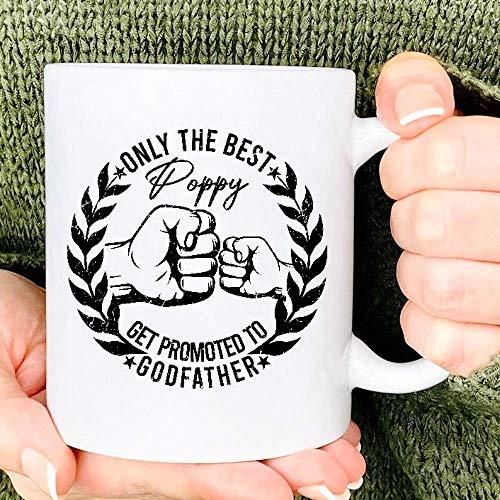 Taza de café divertida Solo la mejor amapola Taza de café divertida Solo las mejores tías ascienden al padrino Taza de regalo divertida para el día del padre Taza de café de cerámica Taza de té blanca