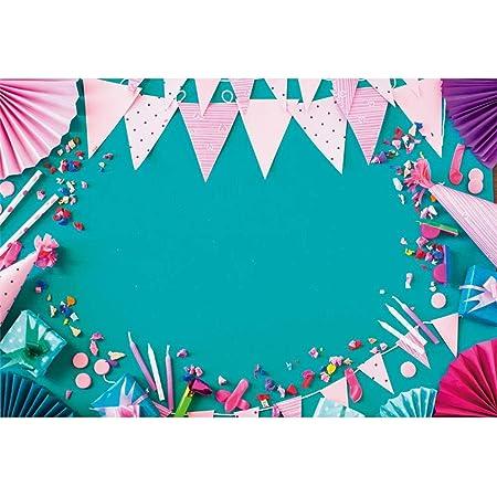 7x7FT Vinyl Photography Backdrop,Quatrefoil,Blue Ikat Trellis Background Newborn Birthday Party Banner Photo Shoot Booth