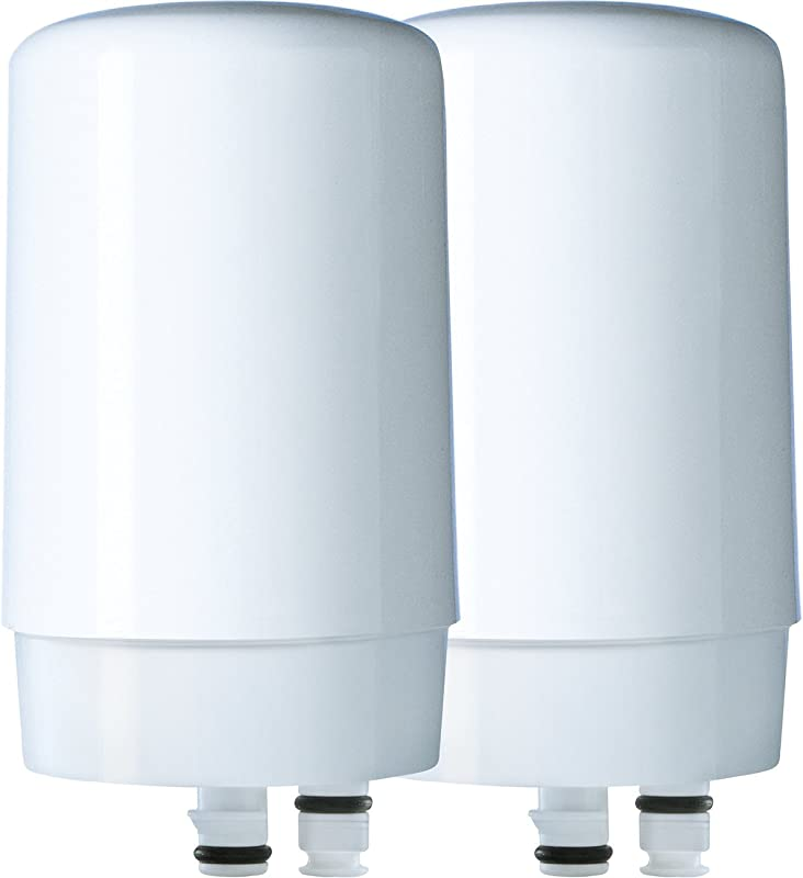 Brita Tap Water Filtration System Replacement Filters For Faucets White 2 Count
