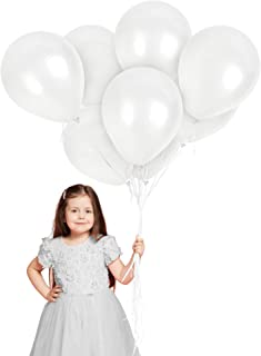 Treasures Gifted Metallic Pearl White Latex Balloons 100 Pack Premium Quality Bouquet for Arch Column Stand School Wedding Baby Shower Birthday Independence Day Party Decorations