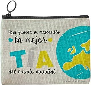 Funda mascarilla regalo TÍA personalizada guardamascarilla mejor mundo mundial tita