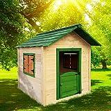 BRAST Spielhaus für Kinder 106 x111x132cm Tannenholz 12mm Kinderspielhaus Stelzenhaus Garten Baum...