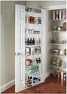 Over-the-Door Spice Rack Wall Mount Pantry Kitchen 8-Tier Cabinet Organizer, 77-Inch Height X 18-Inch Wide