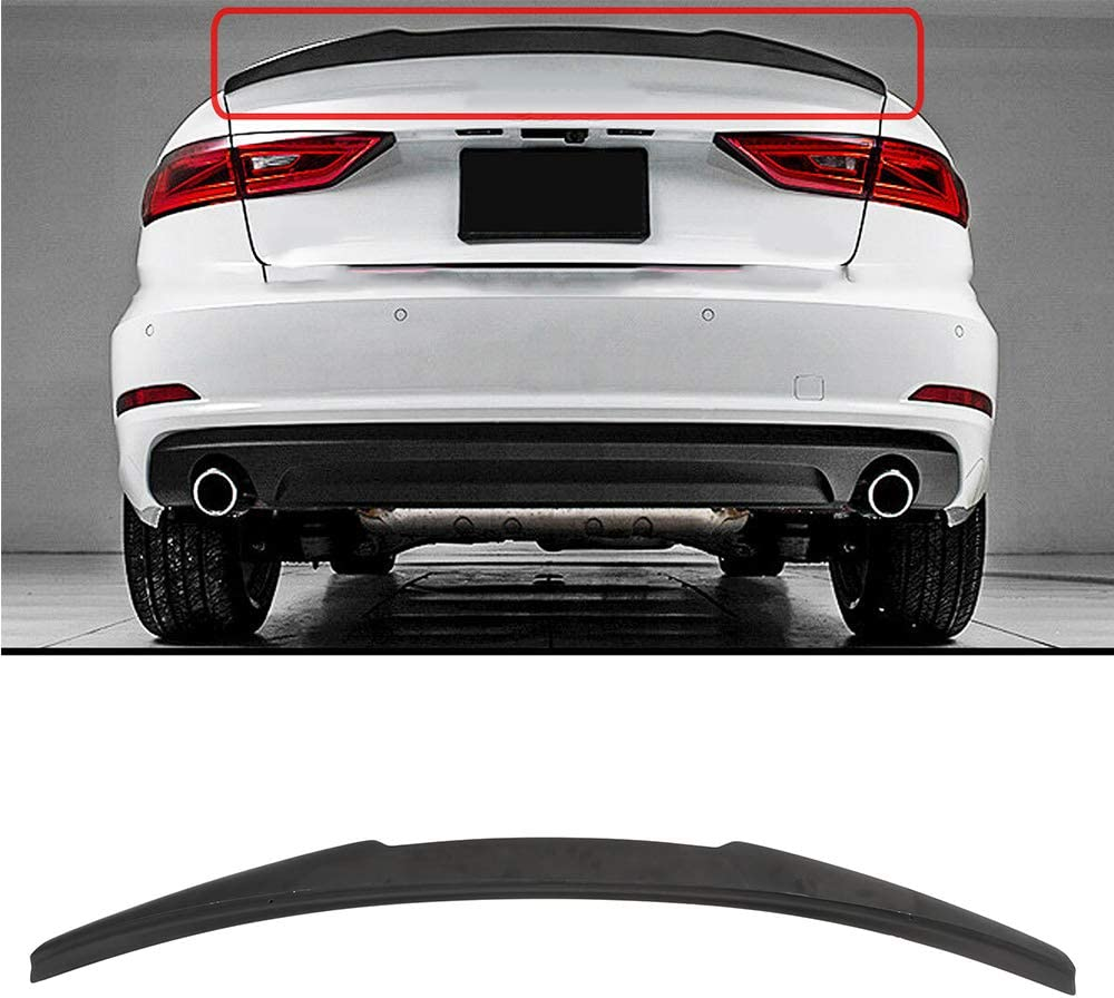 Large discharge sale AMFULL Reservation Black Trunk Spoiler Lip Kit In Fits 2014-2018 ABS for