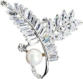 M&D Jewelry Vintage Brooches Gifts for Women Pin Pearl Broach Pin Fashion Swarovski Jewelry
