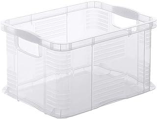 Rotho Agilo Boîte de Rangement 6L, Plastique (PP) sans BPA, Transparent, A5/6L (29,0 x 19,0 x 15,5 cm)