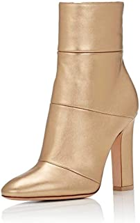 Women Retro Chunky High Heel Ankle Boots Pointed Toe Booties with Side Zipper Size 4-15 US