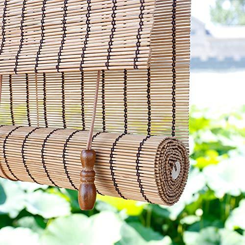 HWF Persiana Enrollable Sombra de Rodillo de Balcón, Pérgola de Porche Pantalla de Privacidad Enrollar Persianas Sombrilla para Gazebo Patio Back Yard, 60cm / 80cm / 100cm / 120cm / 140cm de Ancho