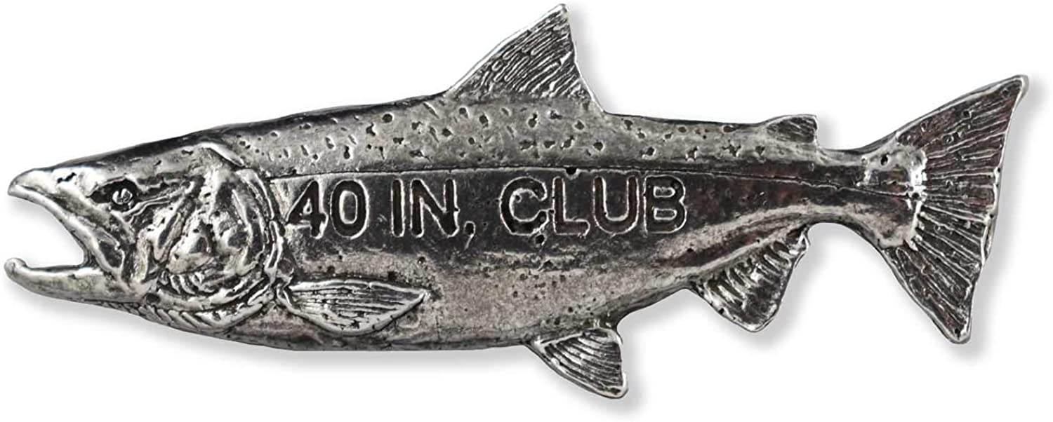 Creative Bargain Pewter Designs Handcrafted 25% OFF Salmon Trophy Pin for Fishin
