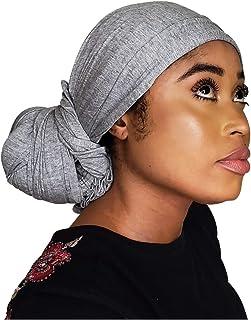 Turban Headwrap Scarf Head Tie -Solid Color Stretch Jersey