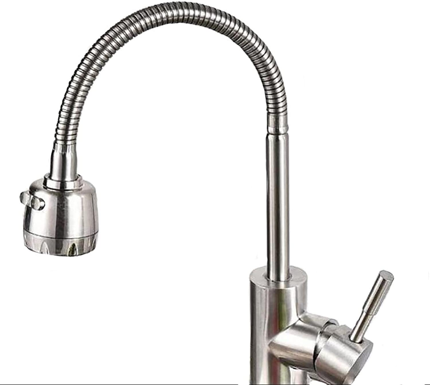 SHIQUNC Kitchen faucets, stainless steel 304, universal redating, hot and cold water, greenical