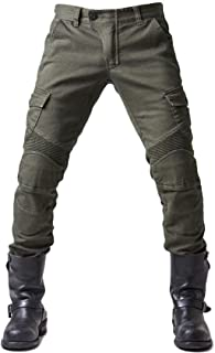 Blue, Waist38-40 Inseam32 ILM Motorcycle Dirt Bike Motocross Pants for Men CE Armored Riding Gear Jeans Motorbike Adventure Touring Pant