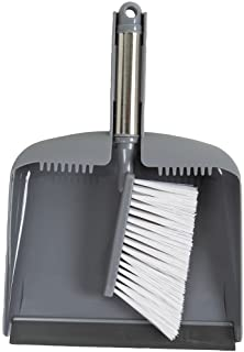 Evriholder Sophisti-Clean Stainless Steel Dustpan and Brush, Silver