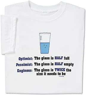 Funny Engineer T Shirt Geek Nerd Engineering Optimist Pessimist Tee