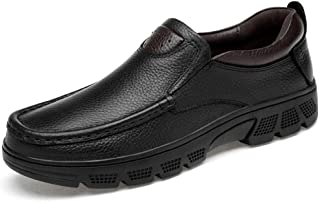 Men's Fashion Oxford Casual Classical Low Top Comfortable Big Sizing Formal Shoes(Warm Velvet Optional) casual shoes (Color : Black, Size : 41 EU)